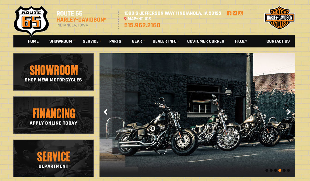 Check Out Our New Website at www.route65hd.net